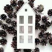 Для дома и интерьера ручной работы. Ярмарка Мастеров - ручная работа Домик фонарик большой вариант 2. Handmade.