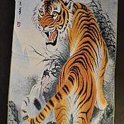 Картины и панно handmade. Livemaster - original item Tibetan Pano carpet with Tiger 2 models. Handmade.