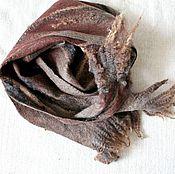 """Комплект мужской шапка-ушанка и шарф валяные """"Дикий и сильный """""""