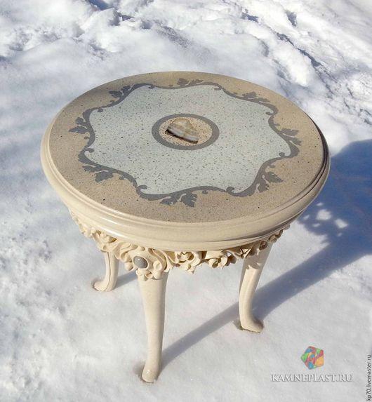 Мебель ручной работы. Ярмарка Мастеров - ручная работа. Купить Столик каменный мини. Handmade. Комбинированный, столик