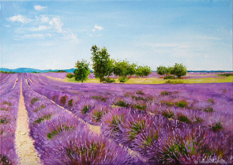 фото картин с лавандовым полем галерею