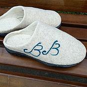 Обувь ручной работы handmade. Livemaster - original item Slippers: felted, woolen, men`s. Handmade.
