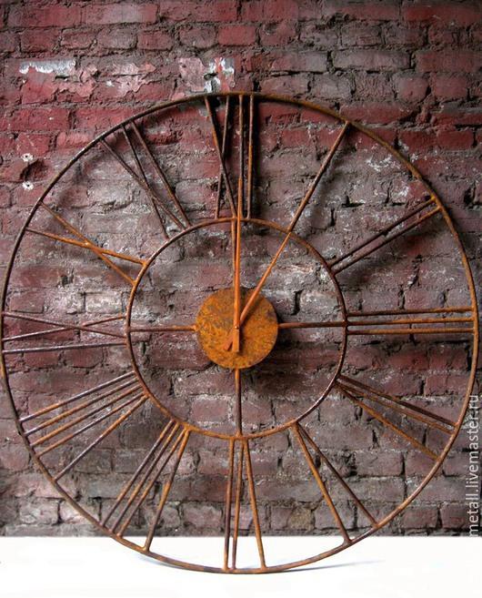 Часы для дома ручной работы. Ярмарка Мастеров - ручная работа. Купить Большие настенные часы 1.5 метра, ковка. Handmade.