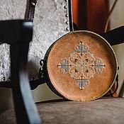 Сумки и аксессуары handmade. Livemaster - original item Round bag with  embroidery Rumpu. Handmade.