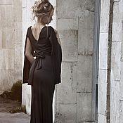 Одежда ручной работы. Ярмарка Мастеров - ручная работа Чёрное платье с рукавами-крыльями. Handmade.