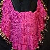 Одежда handmade. Livemaster - original item Chocolate and red skirt 25 yard 2 suns. Handmade.