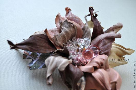 """Броши ручной работы. Ярмарка Мастеров - ручная работа. Купить Брошь цветок """"Лепесток пыльной розы"""". Handmade. Бежевый"""
