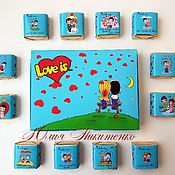 "Шокобоксы ручной работы. Ярмарка Мастеров - ручная работа Шокобокс ""Love is."". Handmade."