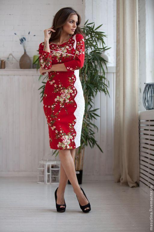 """Платья ручной работы. Ярмарка Мастеров - ручная работа. Купить Платье """"Гроздья рябины"""". Handmade. Ярко-красный, бартер"""