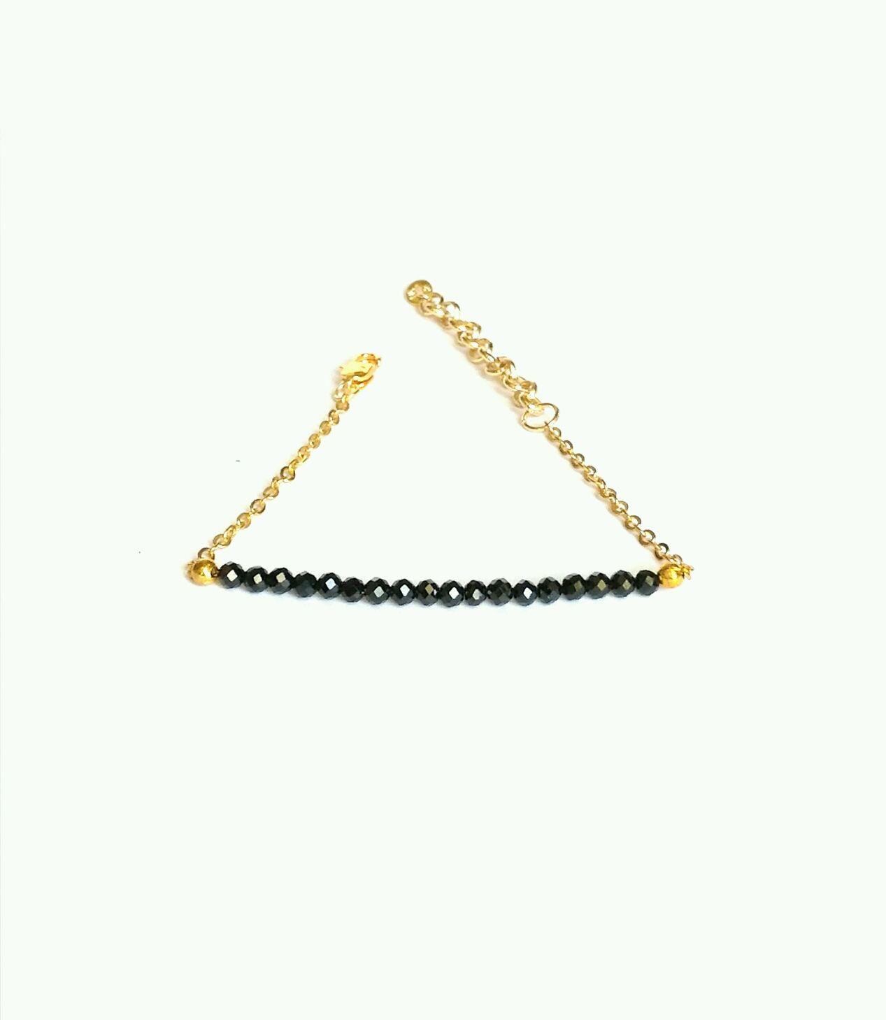Bracelet in black spinel Natural stones, Bead bracelet, Moscow,  Фото №1