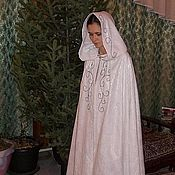 Одежда ручной работы. Ярмарка Мастеров - ручная работа Длинный эльфийский плащ с вышивкой. Handmade.