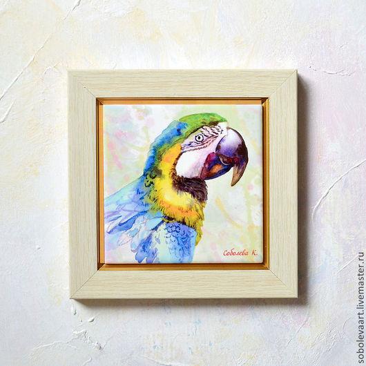 Картина с попугаем. Автор Соболева Карина