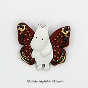 Украшения ручной работы. Ярмарка Мастеров - ручная работа Мумик. Первая бабочка. Брошь. Handmade.