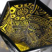 """Для дома и интерьера ручной работы. Ярмарка Мастеров - ручная работа Ваза """"Граненые ирокезы"""". Handmade."""