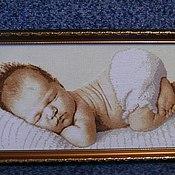 """Картины и панно ручной работы. Ярмарка Мастеров - ручная работа Картина """"Спящий малыш"""". Handmade."""