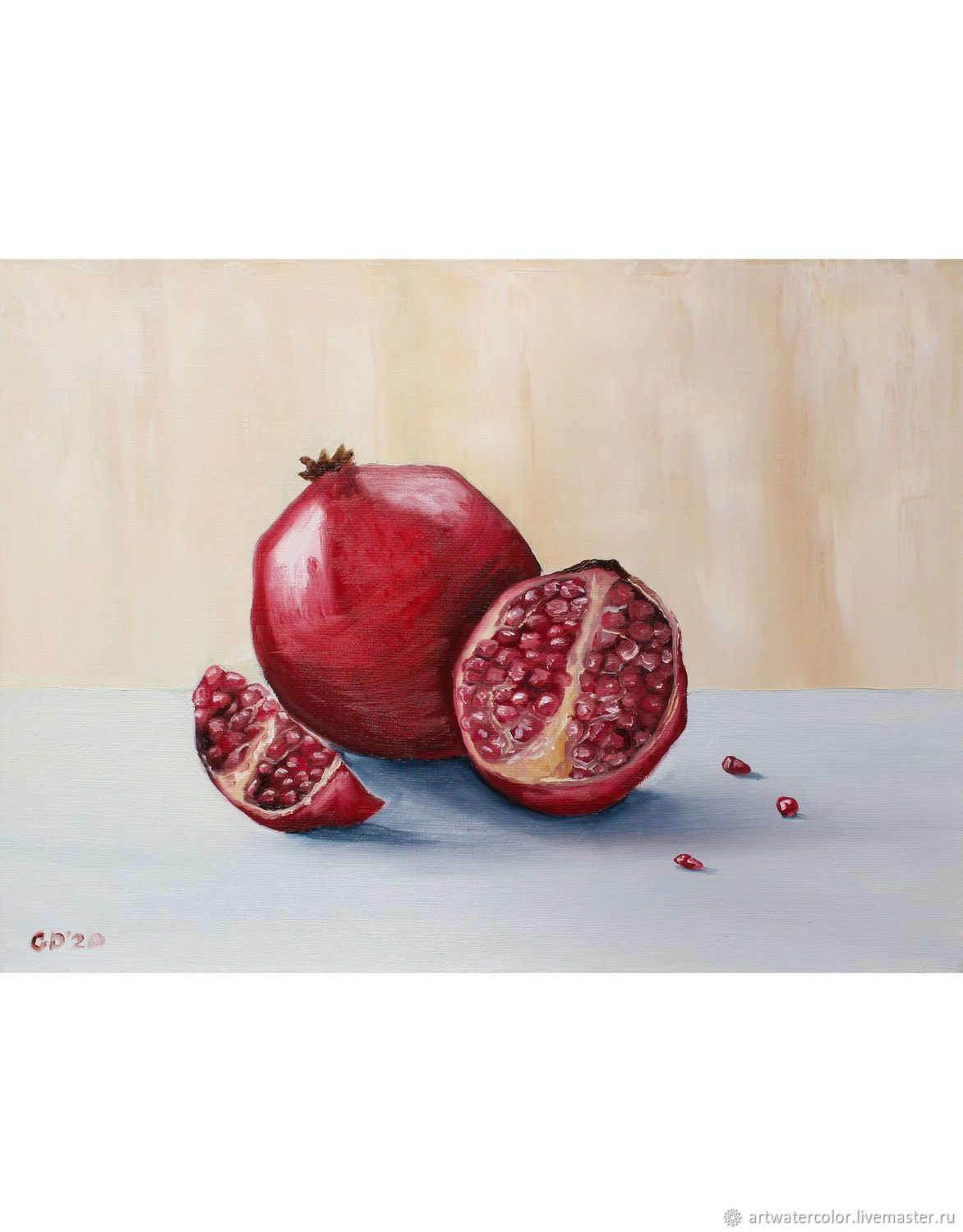 Oil painting Pomegranate Still life with fruit, Pictures, Moscow,  Фото №1