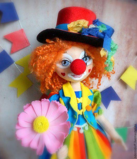 Коллекционные куклы ручной работы. Ярмарка Мастеров - ручная работа. Купить Рыжая клоунесса Люсьена Авторская текстильная кукла. Handmade.