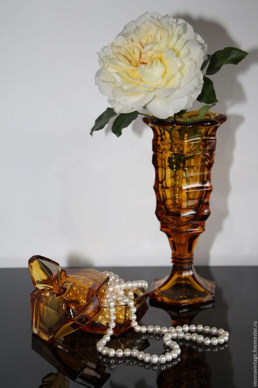 """Винтажные предметы интерьера. Ярмарка Мастеров - ручная работа. Купить Ваза """"Янтарь"""". Handmade. Рыжий, ваза для цветов, янтарный цвет"""