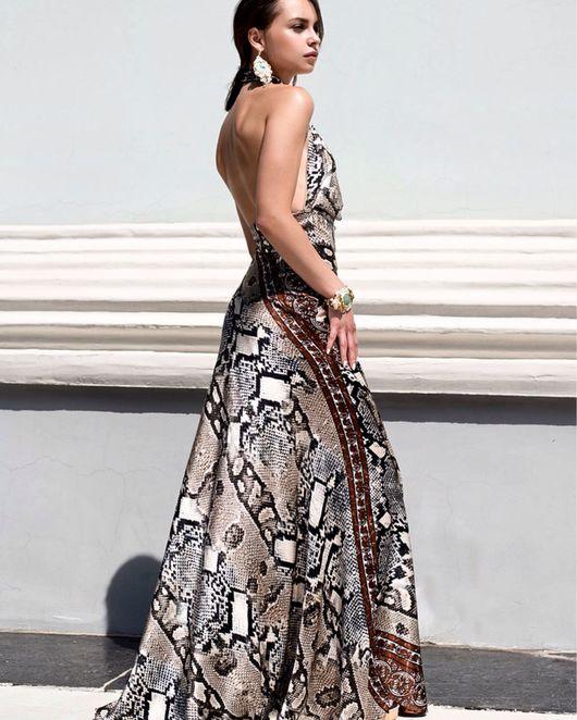Платья ручной работы. Ярмарка Мастеров - ручная работа. Купить Грациозное струящееся платье. Handmade. Вечернее платье, голая спина