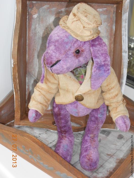 Мишки Тедди ручной работы. Ярмарка Мастеров - ручная работа. Купить Teddy кролик. Handmade. Сиреневый, коллекционные игрушки, подарок