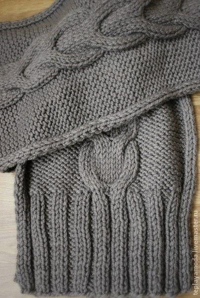 Шарфы и шарфики ручной работы. Ярмарка Мастеров - ручная работа. Купить Шарф. Handmade. Серый, стильный шарф, модный аксессуар