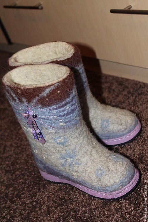 """Обувь ручной работы. Ярмарка Мастеров - ручная работа. Купить Валенки детские """"И выпал долгожданный снег"""". Handmade. Валенки"""