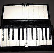 """Кошельки ручной работы. Ярмарка Мастеров - ручная работа Кошелек из натуральной кожи """" Piano"""". Handmade."""