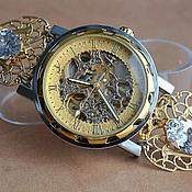 """Украшения ручной работы. Ярмарка Мастеров - ручная работа Часы- скелетоны """" Драгоценное время"""" (часы наручные). Handmade."""