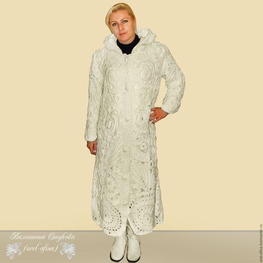 """Верхняя одежда ручной работы. Ярмарка Мастеров - ручная работа. Купить пальто вязаное """"Снежная королева"""". Handmade. Белый"""