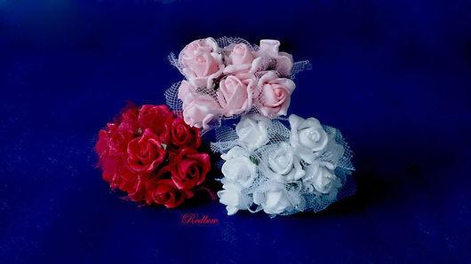 Другие виды рукоделия ручной работы. Ярмарка Мастеров - ручная работа. Купить Розы из латекса с фатином ЦЛ4. Handmade. роза