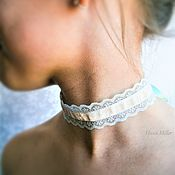 Украшения handmade. Livemaster - original item Choker lace slim Choker on the neck in vintage style. Handmade.