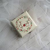 Свадебный салон ручной работы. Ярмарка Мастеров - ручная работа Birdy Wed - свадебная шкатулка для обручальных колец. Handmade.