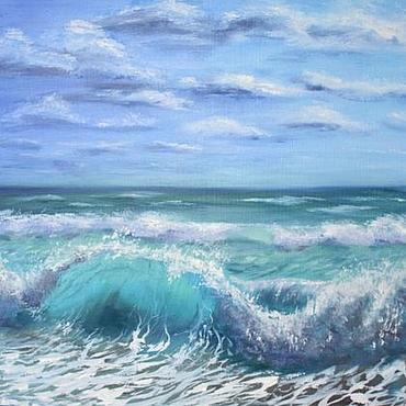 Картины и панно ручной работы. Ярмарка Мастеров - ручная работа Море волнуется. Handmade.