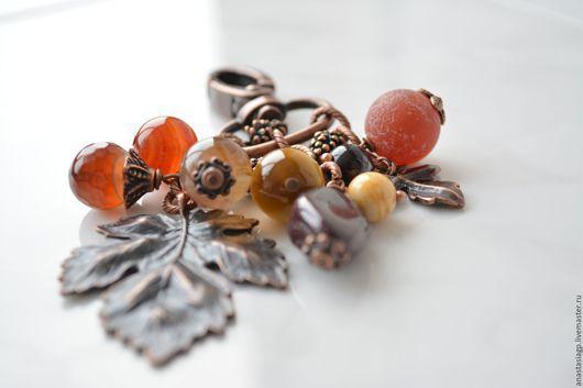 брелок брелок на сумку брелок на ключи красивый подарок аксессуар украшение на сумку брелок из камней красивый подарок недорогой подарок сувенир подарок на новый год осень