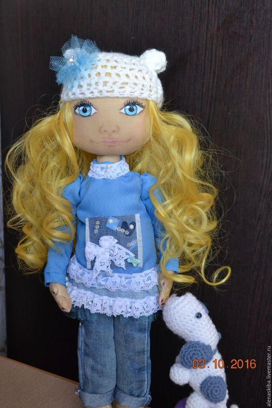 Коллекционные куклы ручной работы. Ярмарка Мастеров - ручная работа. Купить Интерьерная текстильная кукла.. Handmade. Комбинированный, кукла текстильная