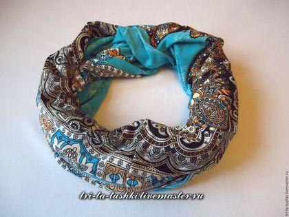 снуд, трикотажный шарф снуд