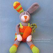 Куклы и игрушки ручной работы. Ярмарка Мастеров - ручная работа Яркий весёлый Заяц с морковкой. Handmade.