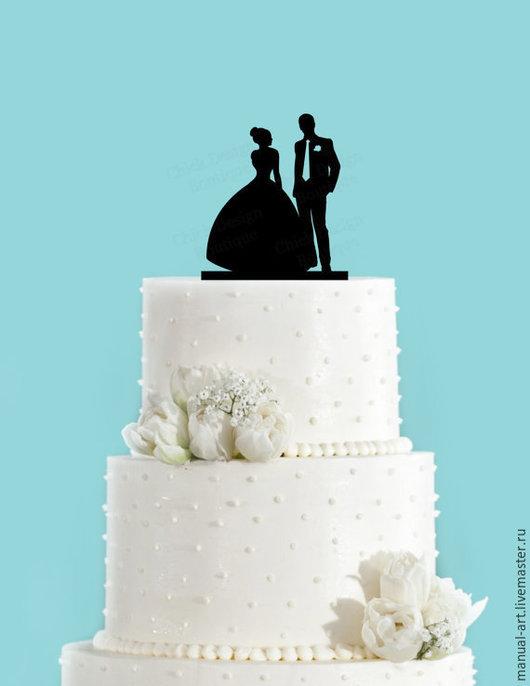 Свадебные аксессуары ручной работы. Ярмарка Мастеров - ручная работа. Купить Топпер. Handmade. Черный, топперы, топпер в торт