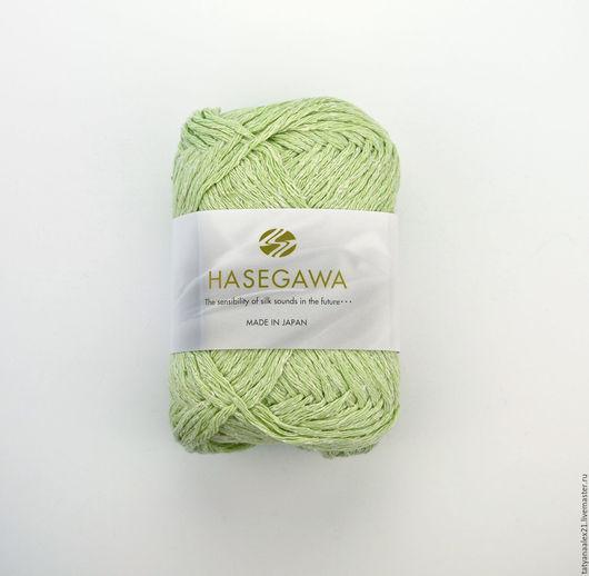 Вязание ручной работы. Ярмарка Мастеров - ручная работа. Купить Пряжа Hasegawa HOLLY SILK №  51 LIME. Handmade.