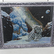 Картины и панно ручной работы. Ярмарка Мастеров - ручная работа Снежный барс. Handmade.