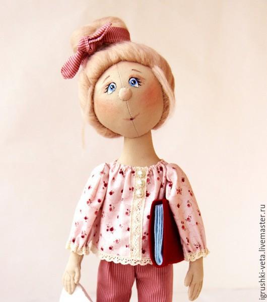 Коллекционные куклы ручной работы. Ярмарка Мастеров - ручная работа. Купить Мила. Текстильная коллекционная кукла.. Handmade. Брусничный