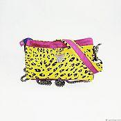 Сумки и аксессуары handmade. Livemaster - original item Bag yellow leopard