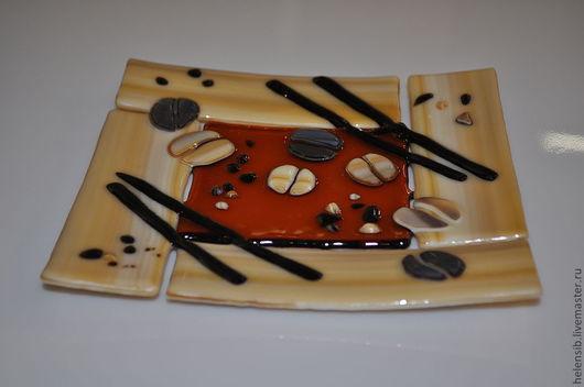 """Тарелки ручной работы. Ярмарка Мастеров - ручная работа. Купить Тарелка """"Корица-кофе"""". Handmade. Коричневый, время, молочный цвет"""