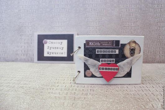 Подарки для мужчин, ручной работы. Ярмарка Мастеров - ручная работа. Купить Чековая Книга Желаний в кожаной обложке. Handmade. Белый