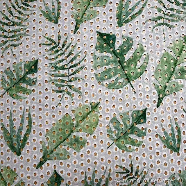 Richelieu 100% cotton with print. Tropics, Fabric, Podolsk,  Фото №1