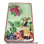"""Доски ручной работы. Ярмарка Мастеров - ручная работа Доска разделочная """"Вино и виноград"""" натуральное дерево. Handmade."""