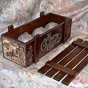Подарки к праздникам ручной работы. Ярмарка Мастеров - ручная работа Короб для игрушек. Handmade.