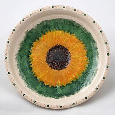 Посуда ручной работы. Ярмарка Мастеров - ручная работа Тарелка Подсолнух. Handmade.