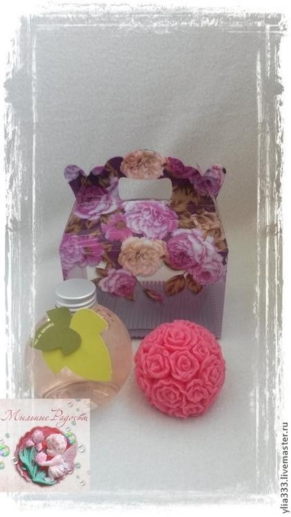 """Мыло ручной работы. Ярмарка Мастеров - ручная работа Подарочный набор """"Розовый сон"""". Handmade."""