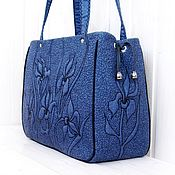 Сумки и аксессуары handmade. Livemaster - original item Classic bag: Night Irises. Handmade.